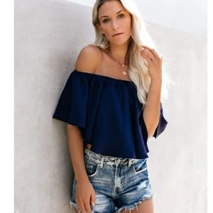 KELSI Off Shoulder Ruffle Top